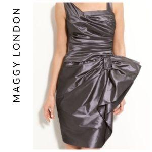 Maggy London fabulous Taffeta Bow dress, sz 4